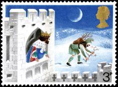 Good King Wenceslas 1. Stamp from 1973  by David Gentleman.
