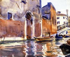 Side Canal Venice | John Singer Sargent | oil painting