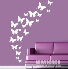 Mariposas en vinil calandrado