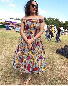 African print off the shoulder midi dress -Ankara Midi dress- dress-Ankara dress -African clothing - Latest African Fashion Dresses, African Dresses For Women, African Print Dresses, African Print Fashion, African Attire, African Clothes, Ankara Fashion, Latest Fashion, African Traditional Dresses