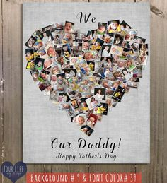 DAD Gift Parent's Personalized Photo Collage Dad