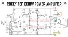 This high power output amplifier named Rocky TEF can produce output power, see the circuit diagram, PCB Layout, and the making amplifier project video here. Svs Subwoofer, Subwoofer Box, Hifi Amplifier, Class D Amplifier, Amplificador 12v, Power Supply Circuit, Simple Circuit, Sound Installation, Circuit Diagram