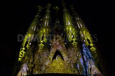 LOde a la Vie at Sagrada Familia in Barcelona. A group called the Moment Factory designed a show illuminating a part of the famous Sagrada Familia using 16 video projectors, with a series of compositions during a 7-day show entitled L'Ode a la Vie.