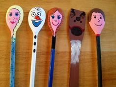 Frozen story spoons