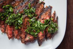 Skirt Steak Recipe with all-purpose steak rub and chimichurri sauce. Easy and fast recipe by Irvin Lin of Eat the Love.
