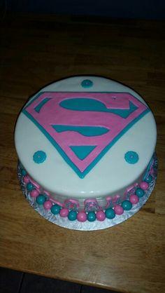 Supergirl cake