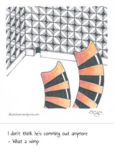Catversations #6 Ink & colored pencil, 4″x4″