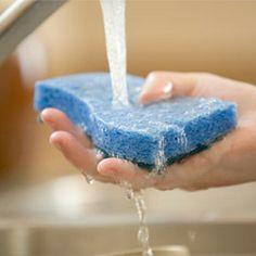 Débarrassez vos éponges des bactéries Votre vieille éponge est-elle bonne pour les ordures? Attendez! Laissez-la deux minutes dans le four micro-ondes et elle en ressortira débarrassée à 99 % des bactéries. Vous aurez une éponge comme neuve. Assurez-vous d'abord de la mouiller.