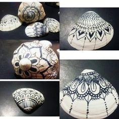 Caracoles pintados shell painted