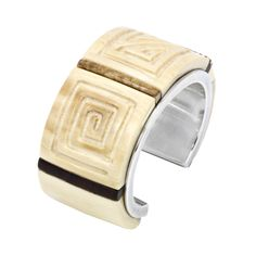 Edison Cummings fossil ivory cuff, another view