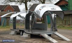 Airstream Toy Hauler...I had no idea they made one...Brought to you by #HouseofInsurance #EugeneOregon