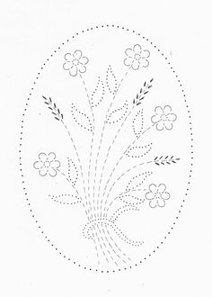 Wheat Flowers - Tin Punch Patterns