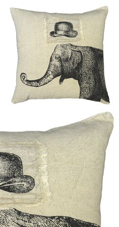Is it just us, or does everyone, even this majestic elephant, look just a tad classier in a well-made hat? Boasting charming, retro-style imagery, this Mr. Sophisticate Throw Pillow make a lively accen...  Find the Mr. Sophisticate Throw Pillow, as seen in the A Bohemian Spectacle Collection at http://dotandbo.com/collections/a-bohemian-spectacle?utm_source=pinterest&utm_medium=organic&db_sku=116510