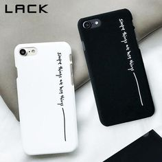 LACK Lovely Cartoon Couples Phone Case For iphone 7 Case Fashion Hard PC Cover Black White Letter Print Cases For 7 Plus - Cheap Phone Cases - Ideas of Cheap Phone Cases - LACK Lovely Cartoon Couples Phone Case For iphone 7 Case Fashion Hard modlilj Cheap Phone Cases, Diy Phone Case, Cute Phone Cases, Iphone Phone Cases, Phone Covers, Hard Phone Cases, Phone Charger, Black Iphone 7 Plus, Iphone 6s Plus