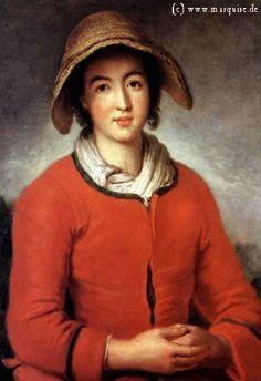 Elisabeth Oberbüchler by Pesne, 1732  A protestant refugee from Salzburg. Herzog-Anton-Ulrich-Museum, Braunschweig