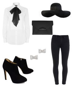 """""""Bows & Bow ties"""" by alise-ds on Polyvore featuring Giuseppe Zanotti, Paige Denim, Polo Ralph Lauren, Eugenia Kim, Marc by Marc Jacobs and Givenchy"""