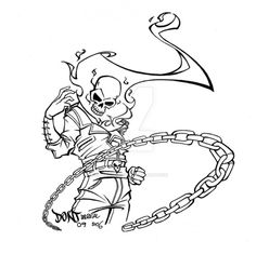 Printable Coloring Picture Of Ghost Rider Free