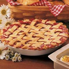 Cherry Berry Pie- I like this unique approach for a twist on a favorite pie! #tasteofhome #easterdinner