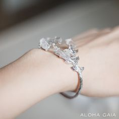 Tamina Bracelet With Clear Quartz Crystals | Aloha Gaia - Jewelry with raw stones and crystals
