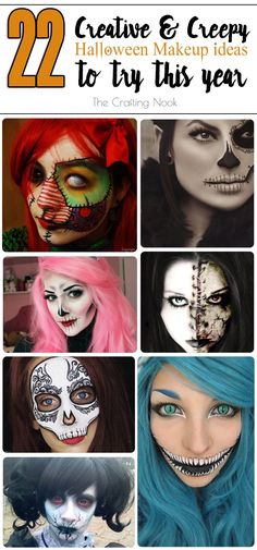 Awesome collecti22 Creative and Creepy Halloween Makeup Looks Ideas to try this Year! #Halloweenmakeup #Hallweenfacepainting #halloweenconstumeson of 22 Creative and Creepy Halloween Makeup Looks Ideas to try this Year! #Halloweenmakeup #Hallweenfacepainting #halloweenconstumes