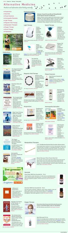 Alternative Medicine READY MADE WEBSITE FOR SALE! Completely automated ready-made website about alternative medicine therapies and health related matters. Covers a huge amount of highly profitable remedies such as Acupuncture, Ayurveda, Flower Essences, Light Therapy, Magnetic Field Therapy, Oxygen Therapy, Homeopathic Remedies, Sound Therapy and illnesses such as acne and skin problems, aging, anxiety, stress, seasonal affective disorder and many others.
