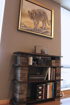 Pine and Concrete bookshelf. Original link.