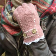 Angora+gloves,+Wool+gloves,+Boho+gloves,+crochet+trim,+Classic+gloves,+crochet+gloves,+steampunk+gloves+by+MintValley+on+Etsy