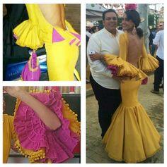 Traje de flamenca alvero @saraflamc @_sarasanabria_ @flamencasconarte