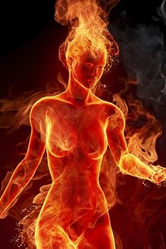 Woman On Fire Android Wallpaper Flame Art, Fire Element, Hot Flashes, Fire And Ice, Divine Feminine, Sacred Feminine, Galaxy Wallpaper, Fantasy Art, Female
