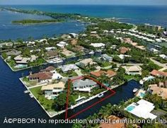 105 Bonito Dr, Ocean Ridge, FL 33435 - Home For Sale and Real Estate Listing - The challenging shape of the lot made the design of the home that much interesting!