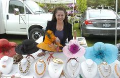 Local jeweler and crafter Frenchy Loeb, shown above at the Saratoga Farmers' Market (last Wednesday, May 2) will launch the Saratoga Artisans' and Crafters' Market next month. The new market will be held from 10 a.m. to 4 p.m. on 15 Thursdays from June 21 to Sept. 27 at the High Rock Park Pavilion.