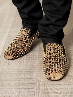 Christian Louboutin  Rollerboy leopard pony hair loafers (127836)