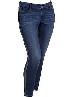 Women's Plus The Rockstar Tuxedo-Stripe Jeggings | Old Navy Size 28 $46.94