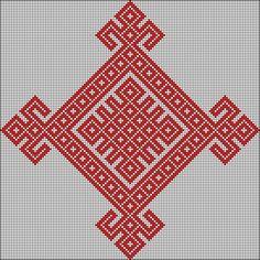 Embroidery Hoop Decor, Folk Embroidery, Modern Embroidery, Cross Stitch Embroidery, Tapestry Crochet Patterns, Weaving Patterns, Craft Patterns, Crochet Stitches Free, Crochet Chart