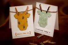 Besondere Glückwunschkarten zur Geburt selbermachen. #DIY