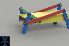 Walking Robot Mechanism - SOLIDWORKS,STEP / IGES,STL,SketchUp,Parasolid - 3D CAD model - GrabCAD