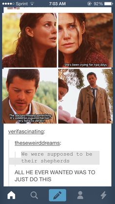 The ep when Castiel goes to Dean for help to save Samandriel, he does tell Dean about this, that he had been helping people. Dean stops him, disregards that and starts talking something else. That broke my heart. He was so happy and Dean didn't care about it