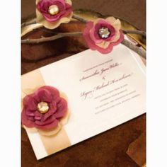DIY invites from Michael's, tissue paper flowers :)