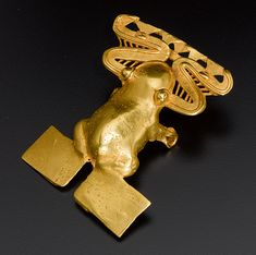 large gold frog pendant (800 – 1500 AD) from the Coclé civilization of modern-day Panama