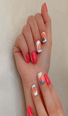 21 decent creative nail arts 2019 Latest Nail Designs, Latest Nail Art, Nail Art Designs, Easy Nail Art, Cool Nail Art, Creative Nails, Nail Arts, 21st, Printed