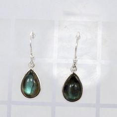 Labradorite Gemstone 925 Sterling Silver Earring by DevmuktiJewels