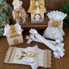 Bag Luxo - Primeira Eucaristia, Batizado no Elo7 | Gislaine Rabello (D9FF4A) Communion Centerpieces, Wedding Moments, Catholic, Diy And Crafts, Gift Wrapping, Baptisms, Valentines, Birthday, Party