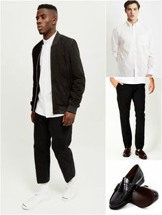 The Smart Casual Bomber Jacket Look 2 Men's Street Style Shop the look now at The Idle Man Street Style Shop, Smart Casual Men, Kids Fashion, Fashion Outfits, Casual Looks, Nike Women, Casual Dresses, Bomber Jacket, Accessories