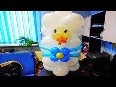 Коляска с малышом из шаров.mp4 - YouTube