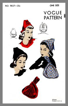 Vintage Butterick millinery Boy/'s Hat Cap Helmet Fabric material sewing pattern #3628 Reprint 11 x 17 PDF INSTANT DOWNLOAD
