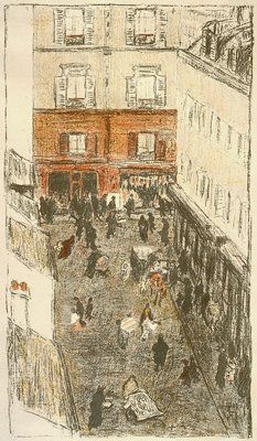 Street Seen from Above / Pierre Bonnard