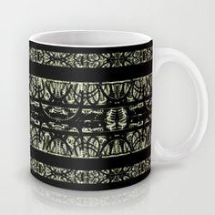 #Black and #white #Ornamental #Dark #Pattern ##print Mug by Danflcreativo - $15.00