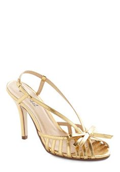 Surprise and Shine Heel in Gold, #ModCloth