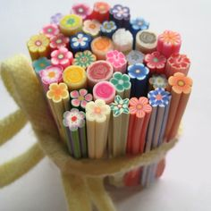20 canes Spring Flowers Polymer Clay Canes Mixture 5cm*4~5mm
