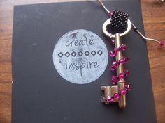 Swarovski Crystal Beaded Key by CreateTooInspire on Etsy, $35.00